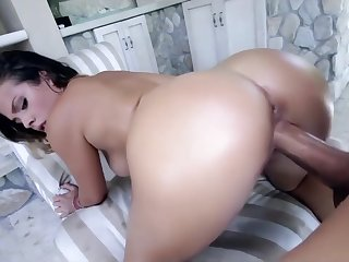Keisha Grey ride herd on hint at monster cock