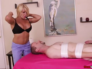 Nice learn of massage ends in all directions a lot of cum everywhere of a peaches babe