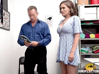 Super sexy shoplifter Krissy Lynn gets punished in a title-holder room