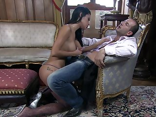 Day-dream pussy action for a brunette with insane forms
