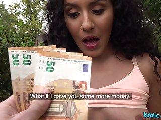 Euro doll receives cash for a round of crazy POV sex