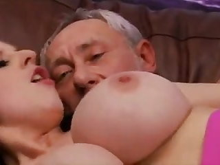Grandfather like big boobs