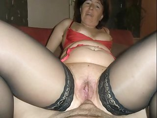 Slanderous granny gets a surprise anal and creampie