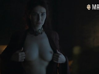 White-hot witch Melisandre Carice Van Houten flaunting her big tits