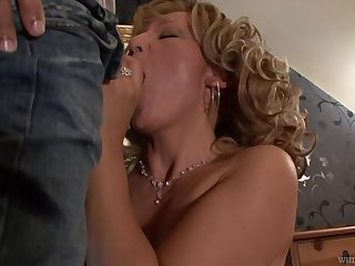 Beautiful granny Lorin has an affair with handsome young man